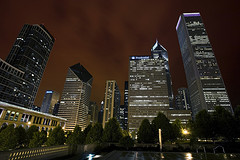 Chicago at Night; David B. Vernon/eScapesPhoto