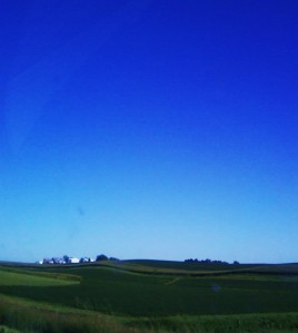 Rolling Farm Fields of Iowa