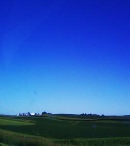 Rolling Farm Fields of Iowa