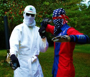 Super White Ninja and Ultra Patriotic Man to the rescue?